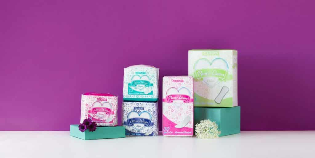 Nordic Ecolabelled bandages and panty liners from Gunry