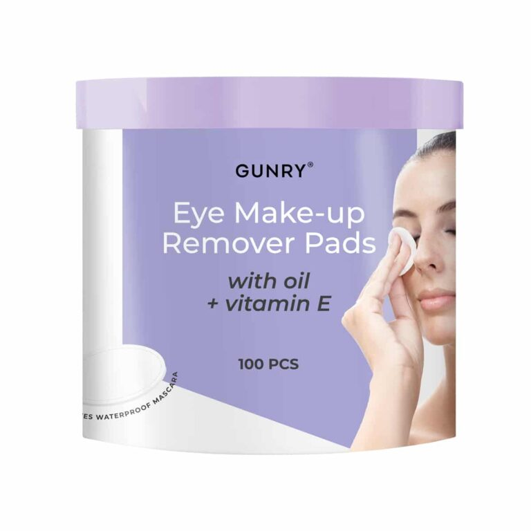 Gunry Eye Make up Remover Pads with oil + vitamin E.