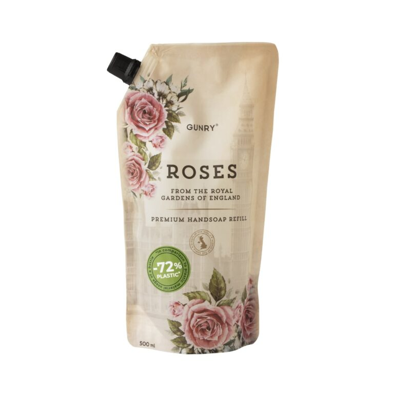 Gunry Liquid Hand Soap Refill Scents of the world Roses 500ml